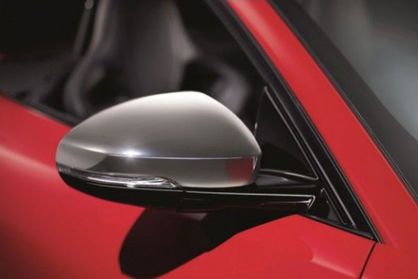 Jaguar F-Type Brushed Chrome Wing Mirror Covers